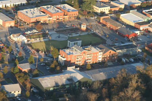Helicopter provides a great aerial view of Town Park.